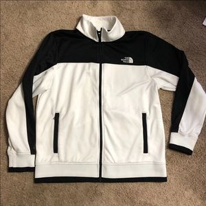 Men's The North Face Black & White Track Jacket L